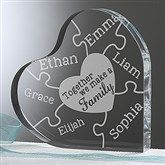 Together We Make A Family Personalized Heart Puzzle Keepsake - 15371