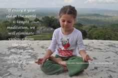 Meditation, children, both are wonderful, but as a combination, WOW  x.  Love the idea of mindfulness in educators and education.