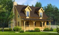 Mountain Laurel Log Home | Southland Log Homes