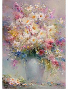Картина с полевыми цветами «Нежность»