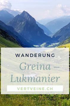 Still und schön liegt sie das: die mystische Greina-Ebene. Der Weg führt über sie, vom Graubünden ins Tessin. Dort wandert man durch das einsame Blenio-Tal, später über den rauen Gana Negra auf den Lukmanierpass. Die Landschaft präsentiert sich vielfältig: Magerwiesen, geologisch abwechslungsreich, die imposanten Schweizer Alpen, duftende Lerchenwälder… Eine Mehrtageswanderung wie aus dem Bilderbuch! Reisen In Europa, Mountains, Wanderlust Travel, World, Places, Happy, Nature, Outdoor, Swiss Alps