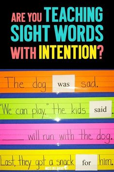 Three Ways to Help Students Who Struggle With Sight Words – Miss DeCarbo Is your sight word instruction working for ALL of your students? Here is something you might be missing. Teaching Sight Words, Sight Word Practice, Sight Word Activities, Kids Sight Words, Sight Word Wall, Reading Lessons, Teaching Reading, Kindergarten Reading Strategies, Kindergarten Word Work