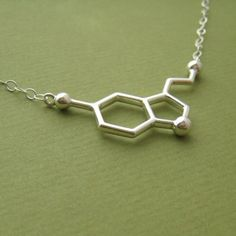Serotonin Molecule Necklace.... This is so me