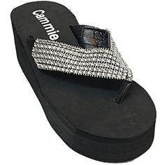 2decf1b862ae2f Cammie Womens Wedge Thong Sandal 9    Continue to the product at the image  link