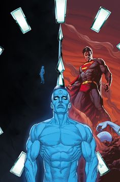 Who Watches the Watchmen Podcast — Strange Harbors Comic Book Artists, Comic Artist, Comic Books Art, Dr Manhattan, Christmas Tv Shows, Arte Nerd, Doomsday Clock, Univers Dc, Superhero Villains