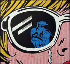 A visão do beijo em pintura de Betty Boolean inspirada na arte de Roy Lichtenstein.  Veja também: http://semioticas1.blogspot.com.br/2013/04/aventuras-da-percepcao.html