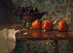 Del Gish-'Still Life with Persimmons'-The Art Spirit Gallery of Fine Art