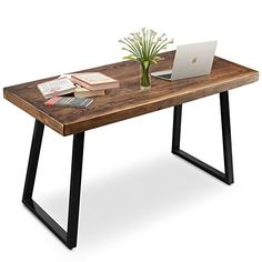 √ Constructed from solid pine to replicate the industrial, brings a glimpse of nature to your work space √ More than just for reclaimed look, the solid wood crafted will gives a strong and healthy impression to your home or office. √The Retro style wth two slanted metal leg craft an eye-catching foundation to meets your variety needs to works as a dinner table, garden table or a computer table.