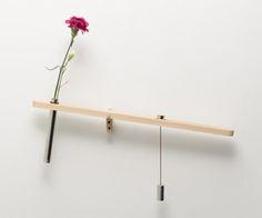 balancing wall vase