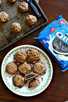 It's cookie-ception!!! The only thing better than an awesome, easy cookie is this recipe for 20-minute Oreo-Stuffed Peanut Butter Cookies! #RoadTripHacks #ad #Vons