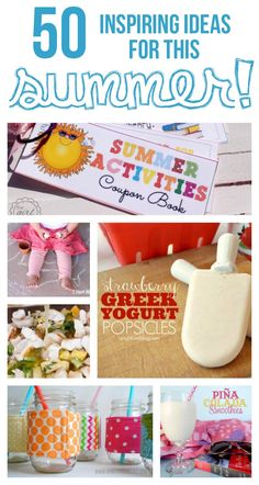 50 inspiring ideas for summer! #summer #crafts