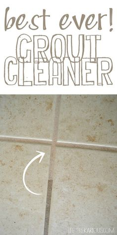 Use Clorox Cleaning Bleach Gel to clean your grout. Just pour it on the grout and leave it for minutes. Scrub with a toothbrush and let sit for another 5 minutes. Then use water and a mop to clean everything up. Cleaning Ceramic Tiles, Clean Tile Grout, Cleaning Tile Floors, Bathroom Cleaning, Grout Cleaning, How To Clean Grout, Clean Bathroom Grout, Cleaning Wood Blinds, Bathroom Caulk
