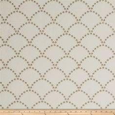 Jaclyn Smith Embroidered Danielle Mushroom from @fabricdotcom  This embroidered linen/cotton blend fabric is medium weight. Colors include mushroom grey embroidery on an ivory background.