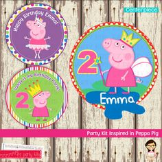 Peppa Pig PARTY KIT  Birthday Peppa Pig  Peppa Pig by EZPARTYKITS,