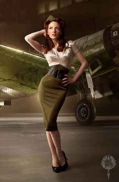 Doll House Photography • Aviation Army Pin Up Girl
