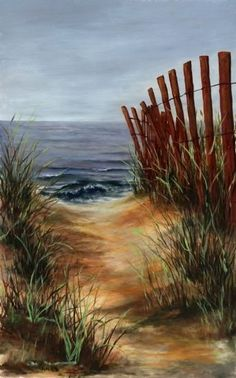 "Beach Path by Cynthia Howard Oil ~ 29"" x 20"""