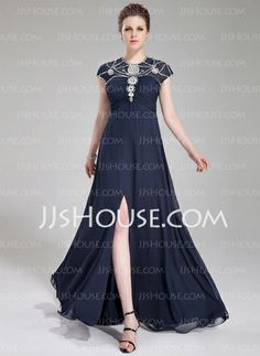 Evening Dresses - $152.69 - A-Line/Princess Scoop Neck Floor-Length Chiffon Tulle Evening Dress With Ruffle Beading Sequins (017019448) http://jjshouse.com/A-Line-Princess-Scoop-Neck-Floor-Length-Chiffon-Tulle-Evening-Dress-With-Ruffle-Beading-Sequins-017019448-g19448