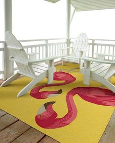 Shop for Indoor/Outdoor Beachcomber Flamingo Yellow Rug x - x Get free delivery On EVERYTHING* Overstock - Your Online Home Decor Store! Get in rewards with Club O!