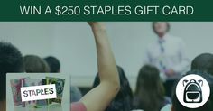WIN $250 Staples gift card
