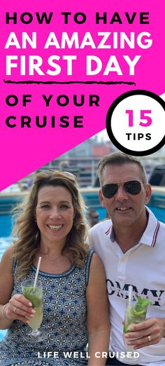 There's nothing like embarkation day! Here's a game plan for the best first day of your cruise. From boarding at the cruise terminal, to sailaway, unpacking and more - these cruise tips will help you start your cruise on the right foot! Cruise Port, Cruise Travel, Cruise Vacation, Vacation Ideas, Vacations, Cruise Ship Reviews, Best Cruise Ships, Packing List For Cruise, Cruise Tips
