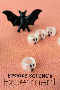 Spooky Halloween Science Experiment for Kids using everyday items from your home for hours of bubbling spooky fun!
