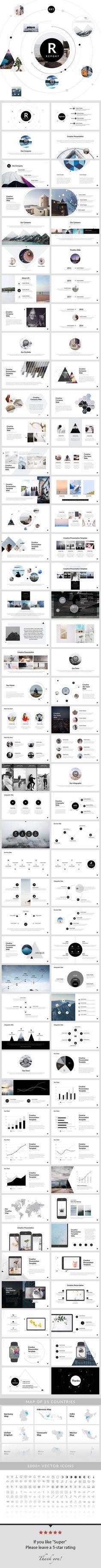 보고서 - PowerPoint 프레젠테이션 템플릿 - Creative PowerPoint Templates