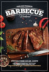 Buy Barbecue BBQ Restaurant Promotion Flyer by PlatinumFusion on GraphicRiver. Barbecue BBQ Restaurant Promotion Flyer 2 PSD File pixels inches with inch bleed area) Print read.