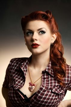 red retro vintage style hair
