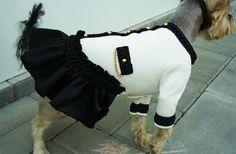 dog dress dog jacket Chanel dog dress small dog clothing