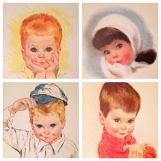 Northern Vintage Sixties Childrens' Prints set of by SpaceModyssey