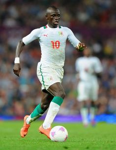 Sadio Mane in action during the Men's Football first round Group A Match of the London 2012 Olympic Games between Great Britain and Senegal