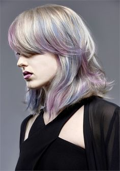 Purple and Blue Fluid Hair Color Make a Candy Cool Creation - Hair Color - Modern Salon