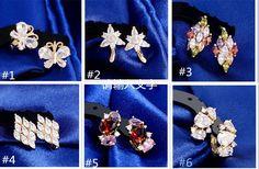 Gold Plated Crystal Flower Ear Cuff Stud Earring Wrap Earrings For Girls/Women #Unbranded