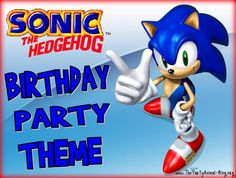 Sonic the Hedgehog Birthday Party Theme