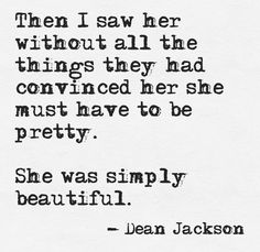 she was simply beautiful