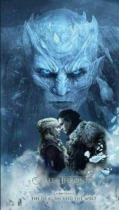 Game Of Thrones fan art- The Dragon And The Wolf Jon Snow Daenerys Targaryen Jonerys Dessin Game Of Thrones, Game Of Thrones Artwork, Game Of Thrones Poster, Game Of Thrones Dragons, Game Of Thrones Fans, Jon Snow, Jon E Daenerys, Khaleesi, Daenerys Targaryen
