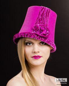 Fur felt couture cloche ELOISE AT THe PLAZA HOTEL hat by Lallu Chic Couture Millinery Hania Bulczynska #hats #millinery #couturemillinery #lalluchic #haniabulczynska #kapelusz #modystka