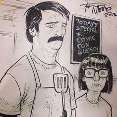 Bob's Burgers Real Life Drawing