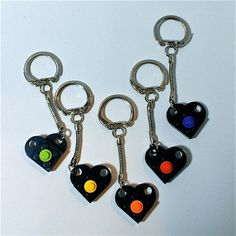 LEGO Party Favor Heart with Color Dot Keychain by ValGlaser, $4.99