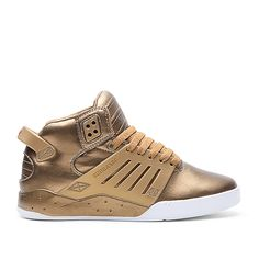SUPRA WMNS SKYTOP III Shoe | GOLD - WHITE | Official SUPRA Footwear Site