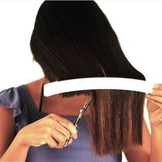 "Pinner said ""I have personally tried this out and it is SO EASY. I will never pay for a haircut AGAIN!' Cut your own hair at home with professional results. For easy and precise cuts every time! Great for cutting childrens hair, trimming bangs, creating layers, or just maintaining a hairstyle between cuts - anytime, any place! Watch the video tutorials to see how its done!"