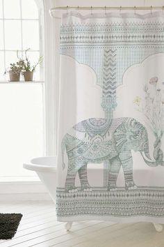 Rideau de douche éléphant - Urban Outfitters