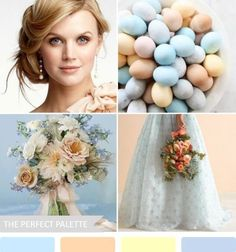 Wedding palettes - blues & yellow hues