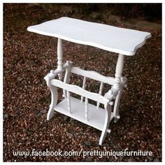 """""""#ascp #anniesloan #chalkpaint #distressed #distressedfurniture #etsy #forsale #handpainted #instahome #loveit #morethanpaint #paintedfurniture #prettyuniquefurniture #refurbished #shabby #shabbychic #upcycled #vintage #table #magazinerack"""" Photo taken by @prettyuniquefurniture on Instagram, pinned via the InstaPin iOS App! http://www.instapinapp.com (03/07/2015)"""