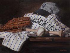 "Still Life, ""The Colorado Rockies"" 12x16 oil on canvas by Artist Michael Malta"