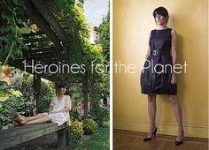 Heroines for the Planet: Jill Danyelle: http://eco-chick.com/2012/01/9507/heroines-for-the-planet-jill-danyelle-eco-interior-designer/ paint floor, umbrella dress, planet interview, creativeth dress, garden, white wall, painted floors