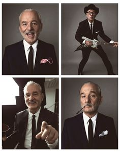 Bill Murray We'd talk about anything and everything, like why it's good to invest in foreign vodka and Wes Anderson films. And Groundhog Day. And What About Bob. Bill Murray, Johnny Depp, What About Bob, Groundhog Day, Hollywood, Portraits, Actors, Man Humor, Famous Faces