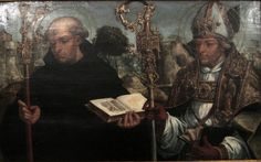 'Saint Benedict and Saint Ambrose', painting by the Master of Sardoal