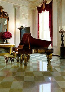 Steinway grand piano in the White House