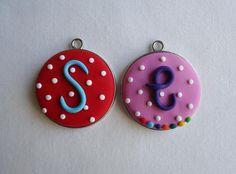 Lollipop Clay Ideas, Monograms, Washer Necklace, Polymer Clay, Crafty, Jewelry, Jewlery, Bijoux, Schmuck